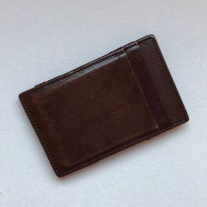J.Crew Leather Flip Wallet Card Cash Holder